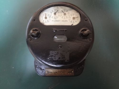 GE KILOWATTHOUR ELECTRIC METER EARLY I-14 110 VOLT 5 AMP LAMP PROJECT?