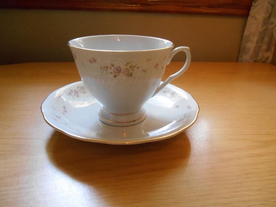 Vintage Bone China Floral Design Cup & Saucer Set