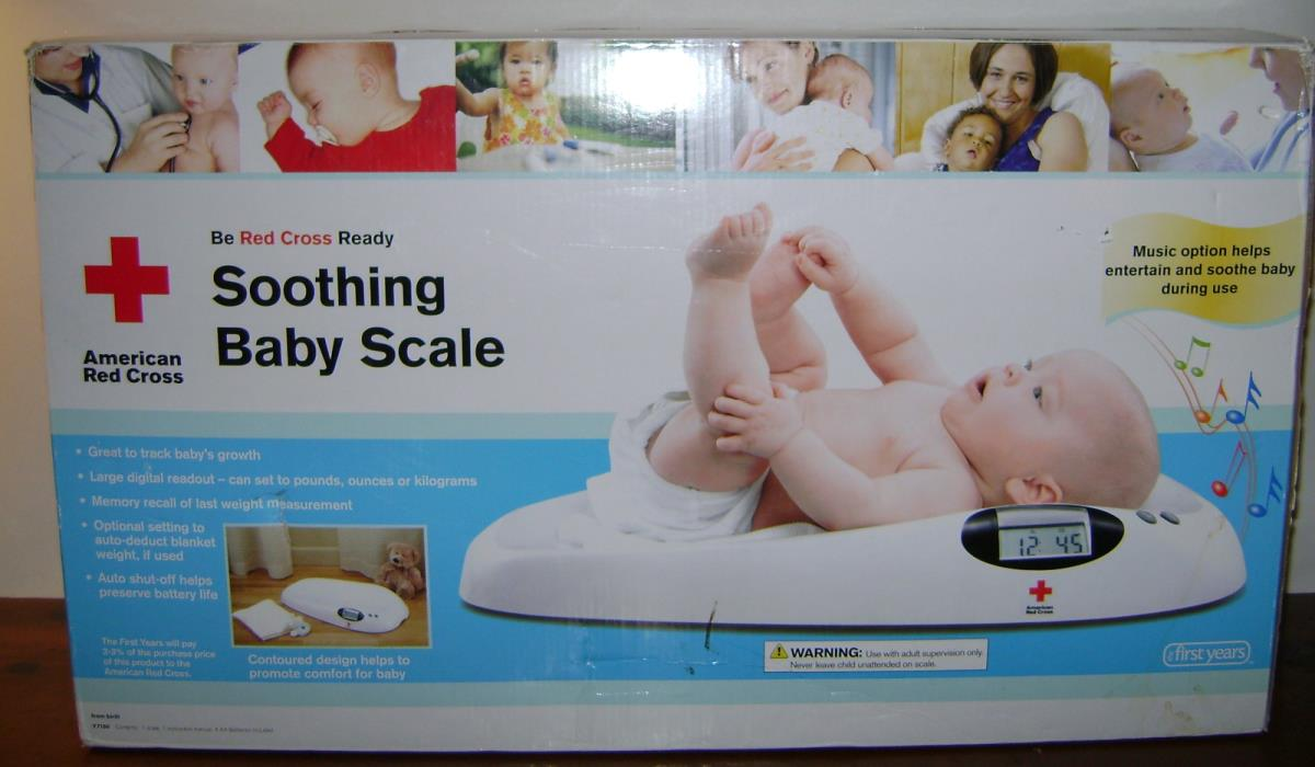 The First Years American Red Cross Soothing Music Playing Baby Scale (Y7150)