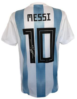 Lionel Messi Signed Adidas Argentina Home Soccer Jersey Messi COA