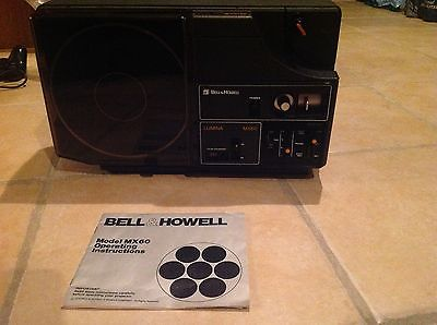 Bell & Howell Lumina MX60 8mm Auto Load Movie Projector With Instructions Manua