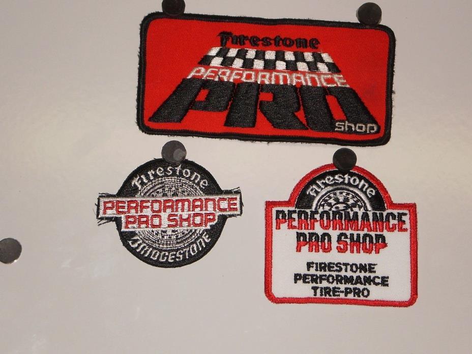 3 Firestone Tire Performance Pro Shop Patches NOS