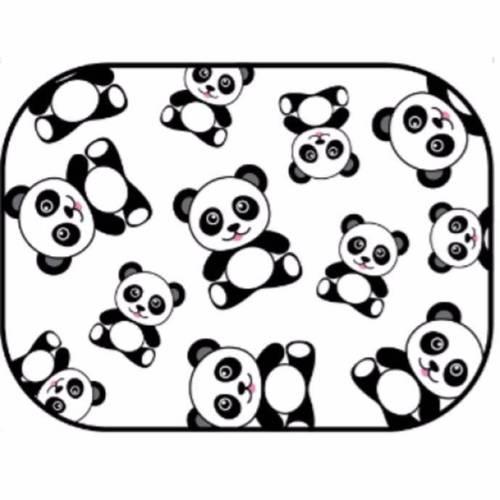 NEW Auto Drive Panda Static Cling Car Window Shade 16