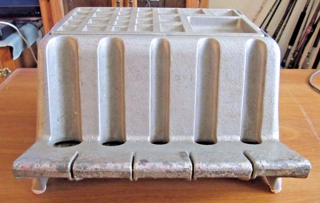 VINTAGE MP JUNIOR COIN CHANGER HOLDER DISPENSER ALUMINUM BANK TELLER CASHIER