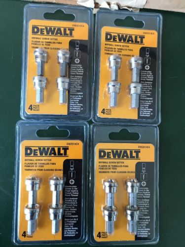 (16-Pack) DeWalt DW2014C4 Drywall Screw Setter Lot Of 4 Packages