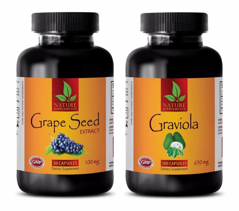 Energy vitamins - GRAVIOLA – GRAPE SEED EXTRACT COMBO 2B - grape seed vitamin e