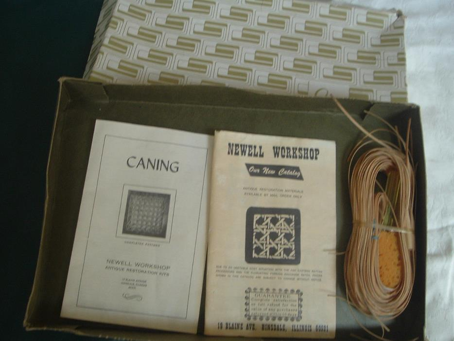 Chair Caning Repair Kit Vintage Newell Workshop with Instructions and Catalogue
