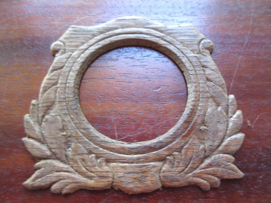 Antique Wood Furniture Salvage Sewing Machine Drawer Front Piece Pressed Oak