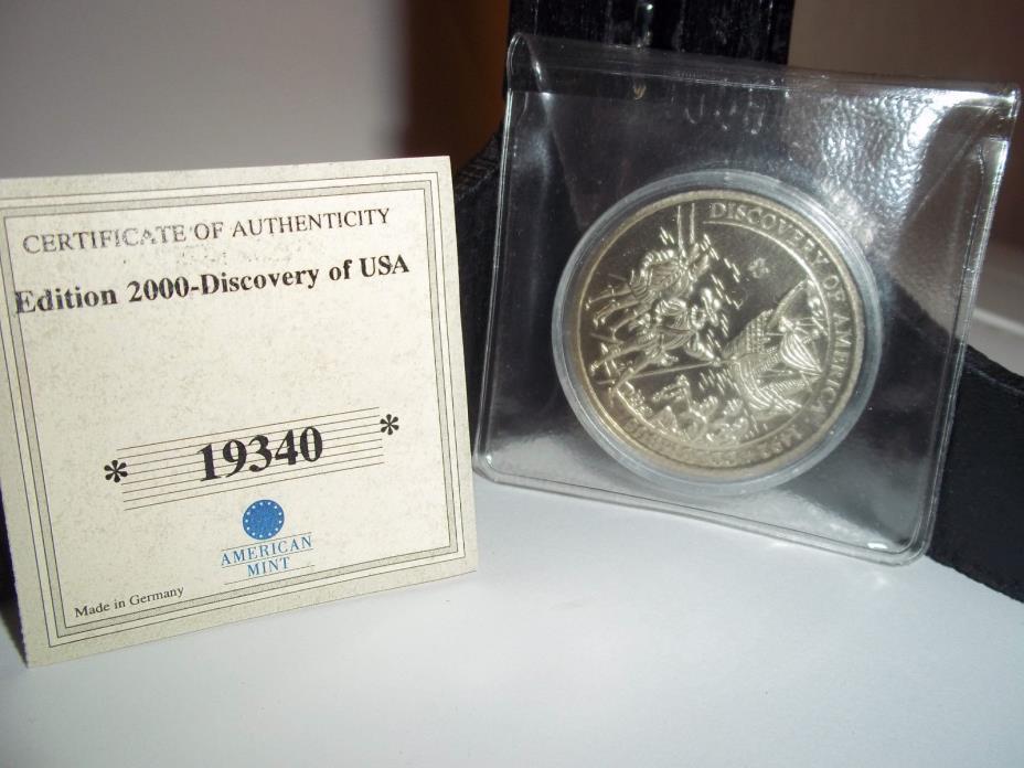 American Mint Discovery America Columbus Republic Liberia $5 Coin