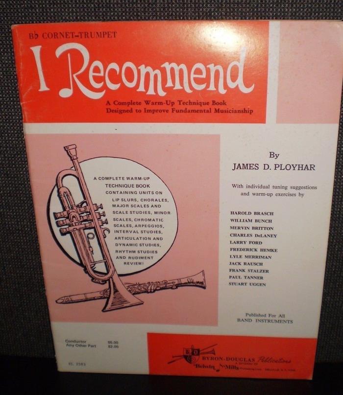 I RECOMMEND Bb Trumpet - Cornet 32 pages NOS
