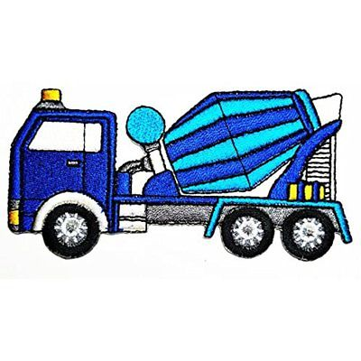 HHO Concrete Truck Mixer Patch Embroidered DIY Patches, Cute Applique Sew Iron