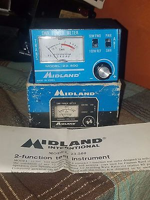 Midland 23-500 SWR / Power Meter for CB Radio In original box