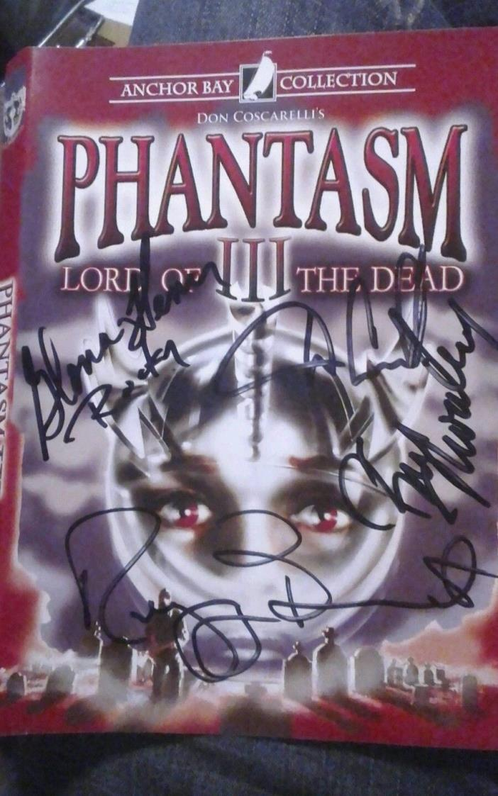 Phantasm SIGNED DVD Lord Of The Dead Don Coscarelli Tall Man Sphere OOP