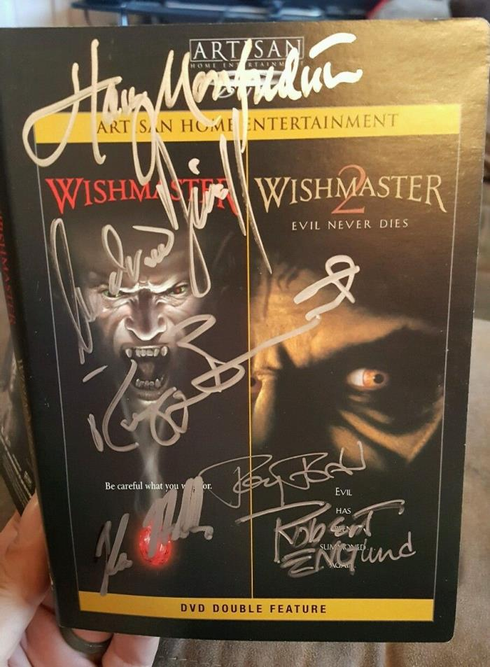 Wishmaster DVD SIGNED AUTOGRAPHED by Andrew Divoff Tony Todd Robert Englund Kane