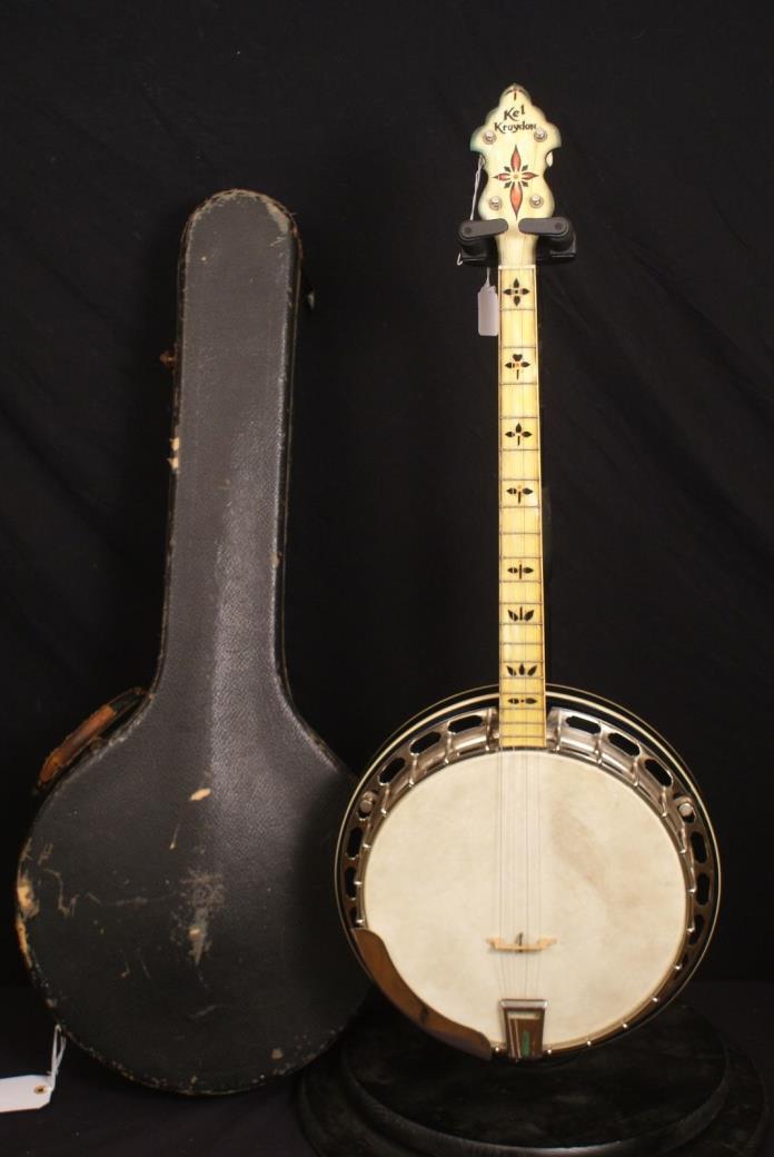 Vintage Gibson Kel Kroydon tenor banjo all original Great for Conversion project