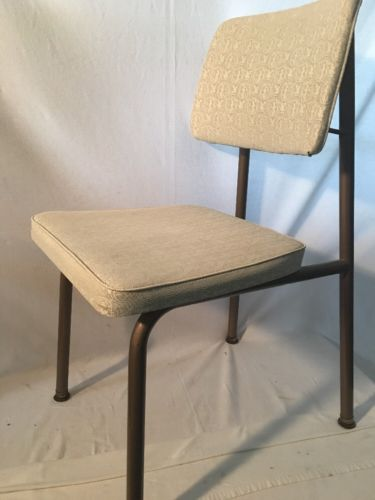 Vintage Chair Brody Seating Co Mid Century Modern Metal & Vinyl 17