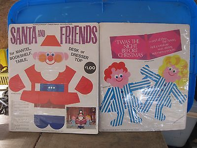 New 1967 PAPER PLAY CREATIONS Santa & Friends Hardboard Punch Out Kit..