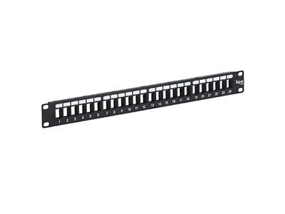 PATCH PANEL- BLANK- HD- 24-PORT- 1 RMS