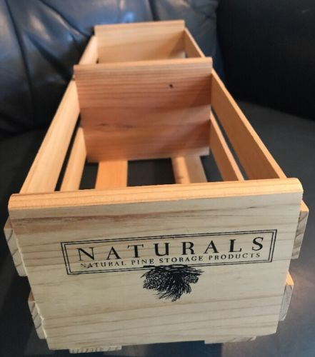 Naturals Natural Pine Storage Products Wooden Cd Dvd Crate Rack Display Case