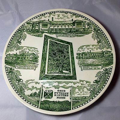 Ohio Pythian Sisters Collector Plate Knights of Pythias Kettlesprings Kilns