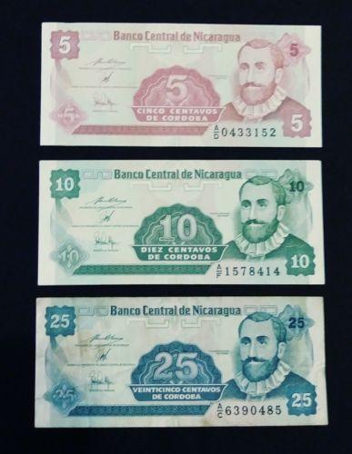 Nicaragua Paper Money Set