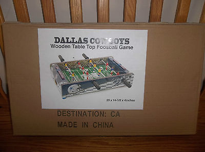 NFL Dallas Cowboys Table Top Foosball, Navy/Silver/White, 20-Inch (new)