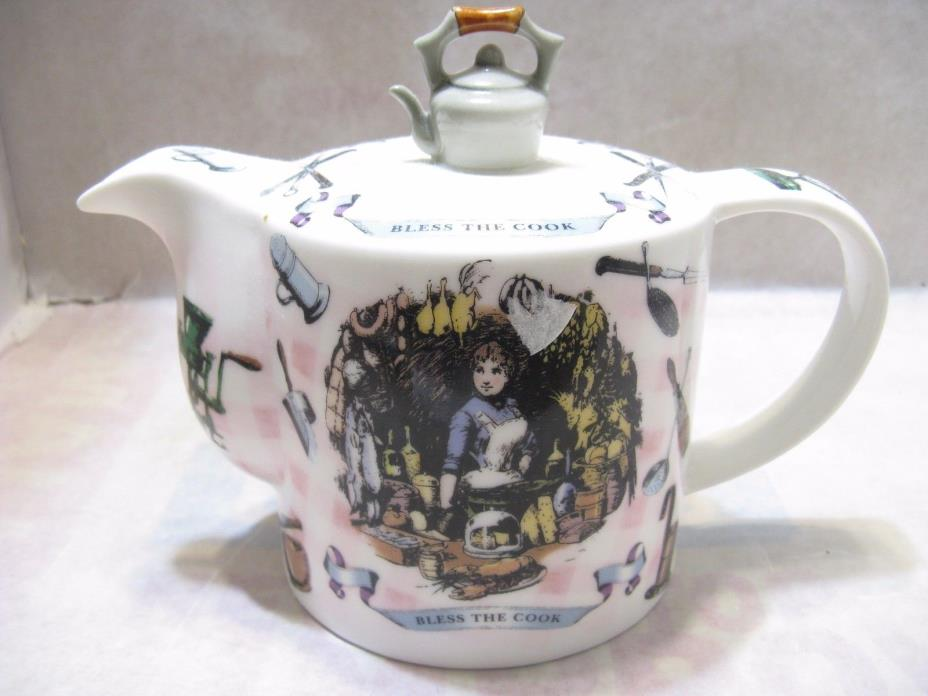 Paul Cardew 2 cup Teapot, Bless the Cook