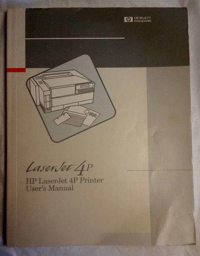 HP LaserJet 4P Printer User's Manual, c. 1993, paperback