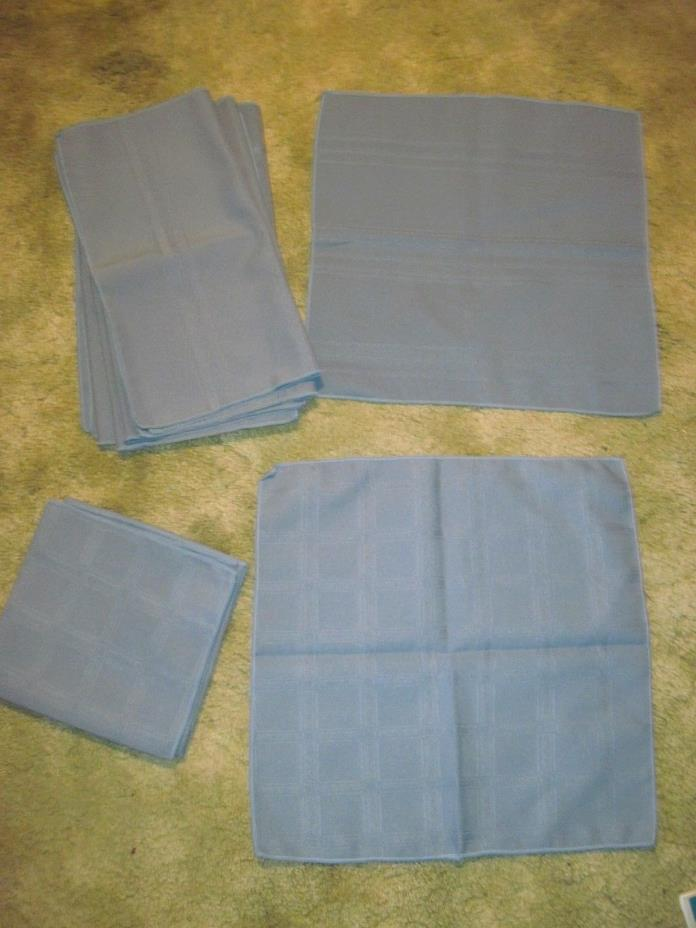 12 Country Blue Napkins, 2 Designs(4 of one, 8 of Other) approx. 16