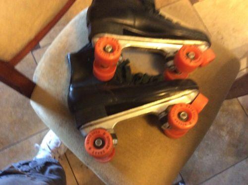 Vintage Black Roller Derby Roller Skates Size 10 Urethane  Wheels