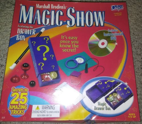 Marshall Brodien' Magic Show Secrets to 25 Amazing Tricks Cadaco Sealed New wDVD