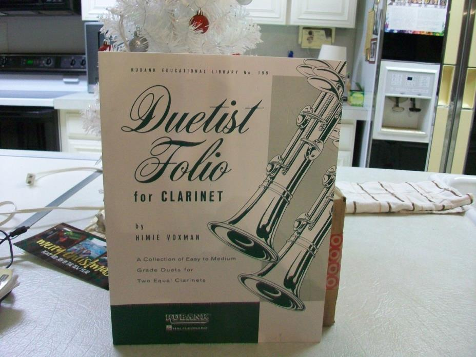 Duetist Folio for Clarinet Duets Contest Sheet Music 44 Pieces Rubank Book