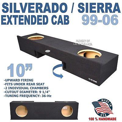 Chevy Silverado extended cab sub box sub woofer enclosure speaker box 1999-2006