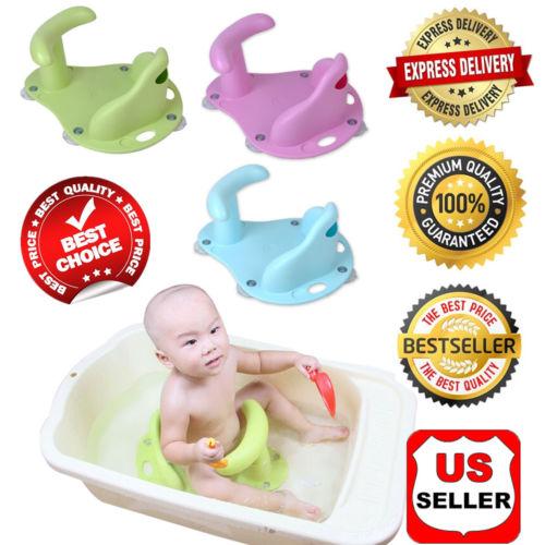 Baby Infant Child Toddler Bath Seat Ring Non Anti Slip Safety Chair Mat Pad TubU