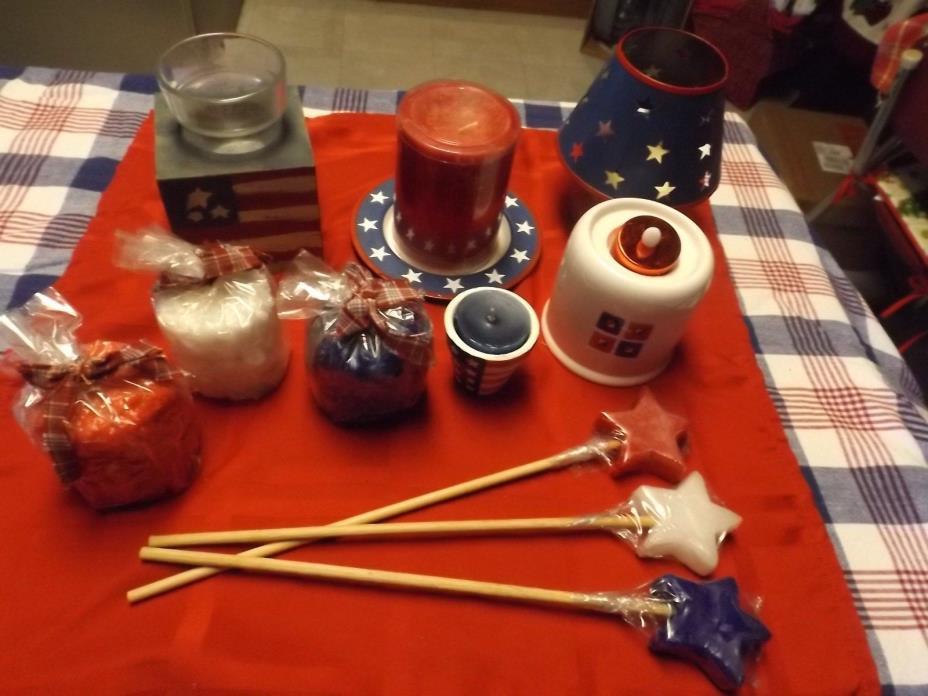 12pc Americana candle lot