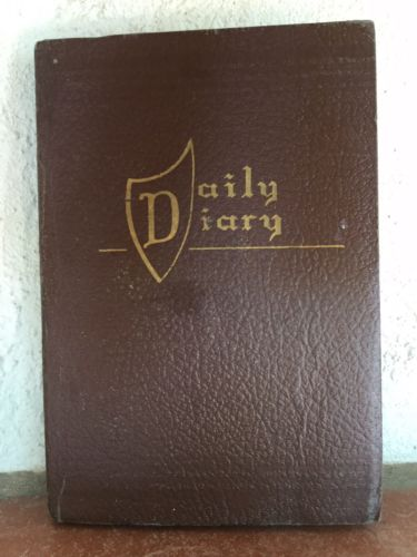 VINTAGE 1948 1949 DAILY DIARY BOOK W/HISTORIC EVENTS INFO& RECORD KEEPING PAGES