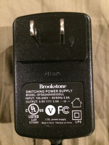 Geniune Brookstone Switching Power Supply AC Adapter EFS02400590300UL 5.9v 3.0a