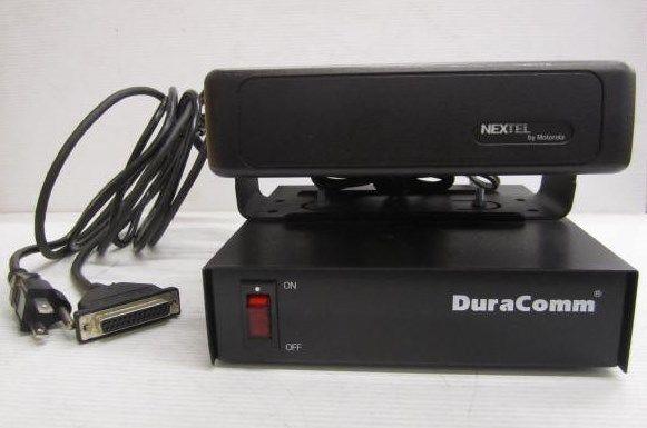 DuraComm Desktop Power Supply 11 Amp w/ Mounted Motorola Transceiver Base - Used