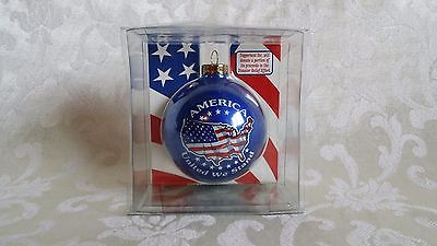 Patriotic Collector Series Hanging Unique Glass Collectible USA Olympics America