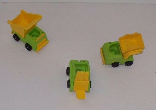 Vintage Dump Truck Fork Lift Scoop Loader for Little People Lift and Load Sets