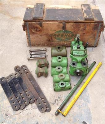 Greenlee hydraulic Pipe Tubing Bender No 770 W/ Shoe Set