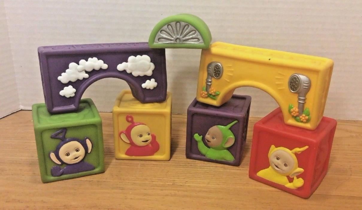 Teletubbies Soft Rubber Stacking Blocks Ragdoll Hasbro 1998