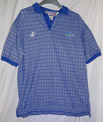 Vintage Seattle Seahawks DENNIS ERICKSON Game Used Worn Coaches Polo Shirt NFL