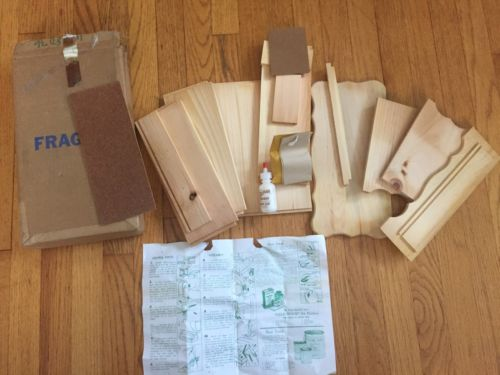 Vintage DIY unused wood craft SET 1975 YIELD HOUSE Recipe Center kit NOS HTF LOT
