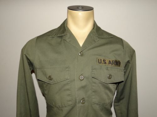 """VTG US Army Vietnam military shirt 173rd Airborne Hawaii 5-0 police 42"""" chest"""