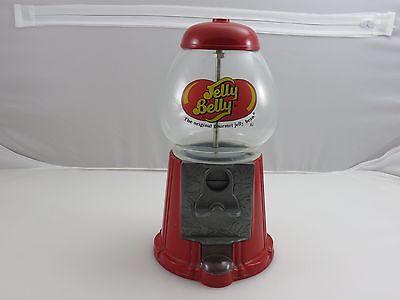 Jelly Belly Mini Candy Bean Machine Dispenser Bank Die-Cast Metal Glass Globe