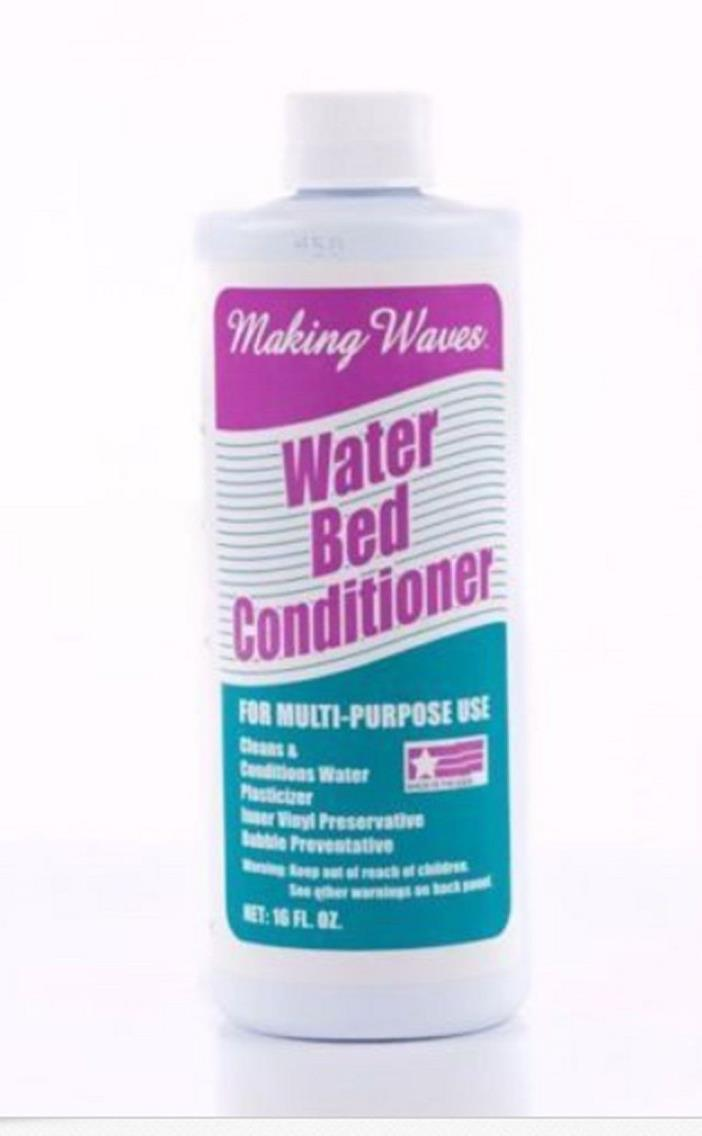 MAKING WAVES Water Bed Conditioner & Cleaner Multi-Purpose Bubble Preventer NEW