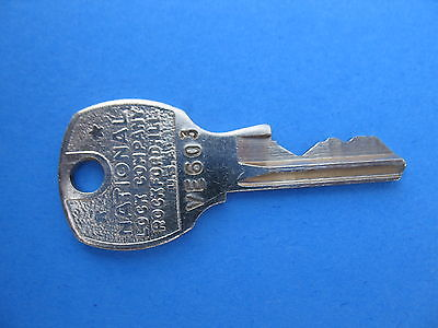 ROCKFORD OR NATIONAL LOCK KEY VENDO SODA  COKE PEPSI SODA MACHINE 1950'S KEYS