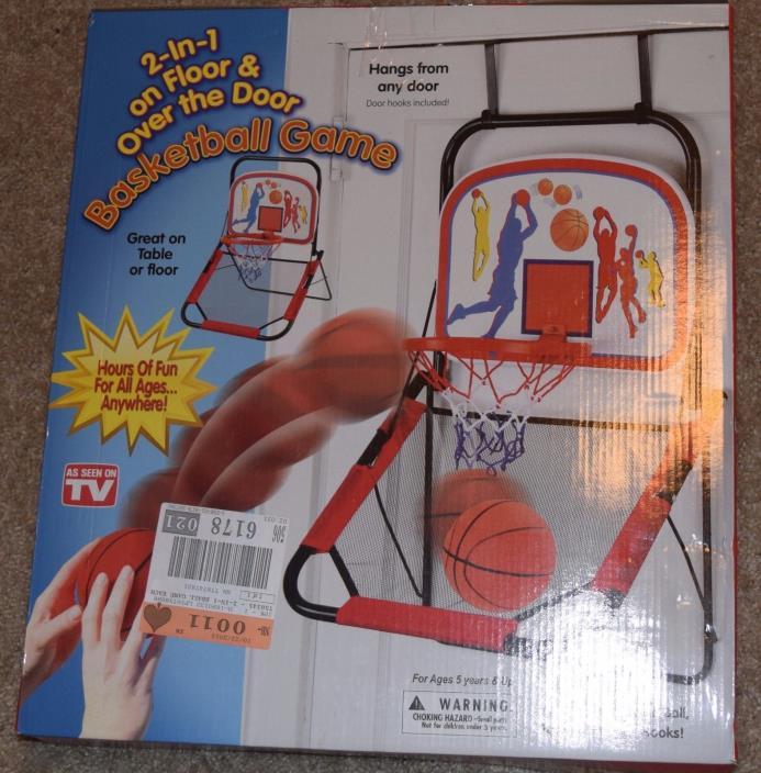 NEW! 2-1 On Floor & Over The Door Basketball Game