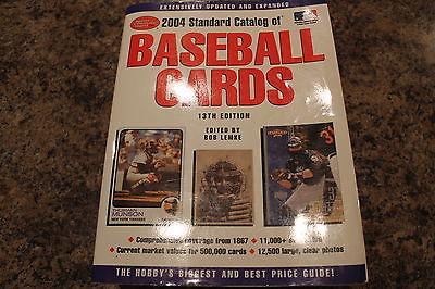 2004 STANDARD CATALOG OF BASEBALL CARDS, 13'TH EDITION, BOB LEMKE, MAMMOTH BOOK